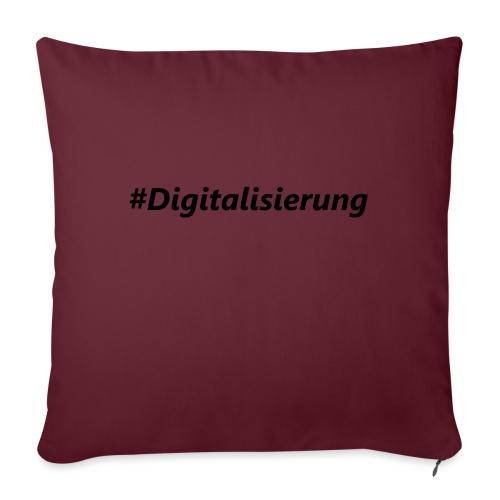 #Digitalisierung black - Sofakissenbezug 44 x 44 cm
