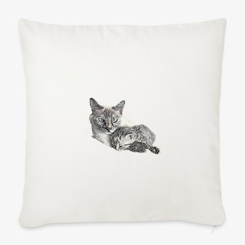 Snow and her baby - Sofa pillowcase 17,3'' x 17,3'' (45 x 45 cm)