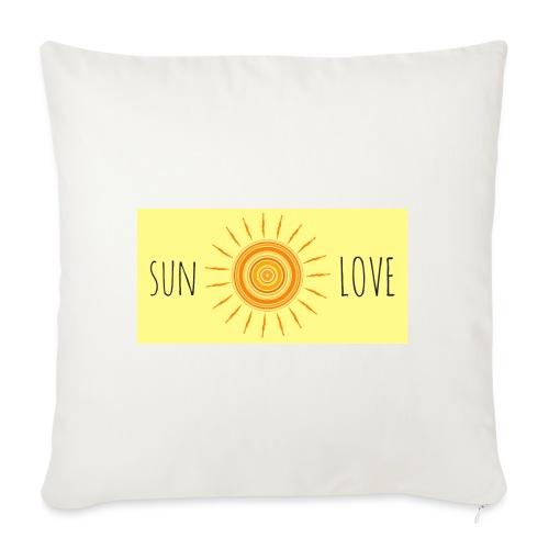 Sun Love - Sofa pillowcase 17,3'' x 17,3'' (45 x 45 cm)