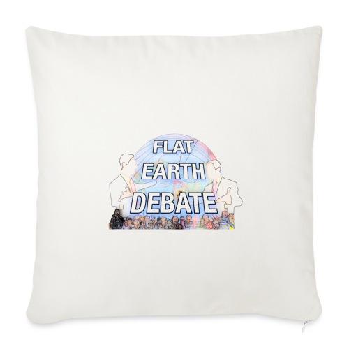 Flat Earth Debate Cartoon - Sofa pillowcase 17,3'' x 17,3'' (45 x 45 cm)