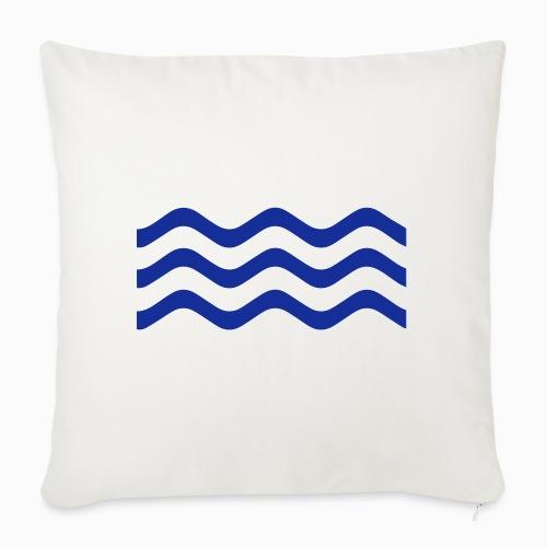 Zeeuwse golf - cadeau voor Zeeuwen en Zeeland fans - Sierkussenhoes, 45 x 45 cm