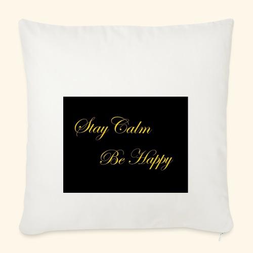 Be Happy - Housse de coussin décorative 45x 45cm