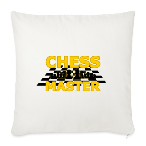 Chess Master - Black Version - By SBDesigns - Sofa pillowcase 17,3'' x 17,3'' (45 x 45 cm)