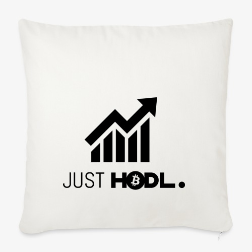 HODL-btc-just-black - Sofa pillowcase 17,3'' x 17,3'' (45 x 45 cm)