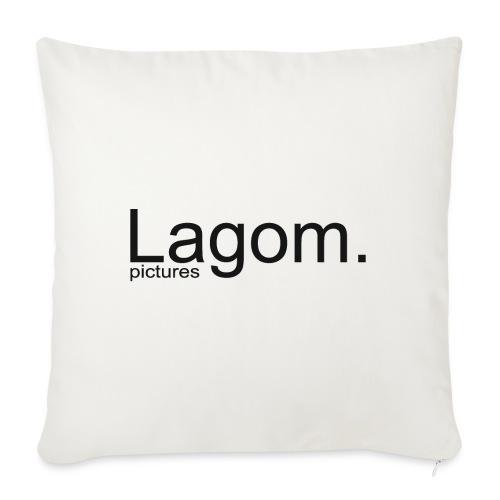 Lagom Pictures Logo Dark - Sofa pillowcase 17,3'' x 17,3'' (45 x 45 cm)
