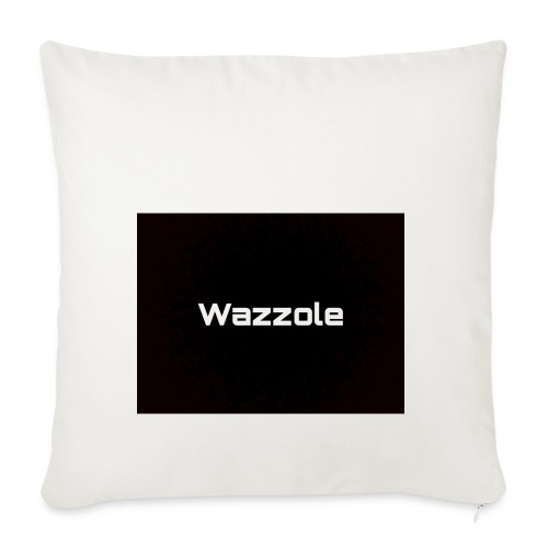 Wazzole plain blk back - Sofa pillowcase 17,3'' x 17,3'' (45 x 45 cm)
