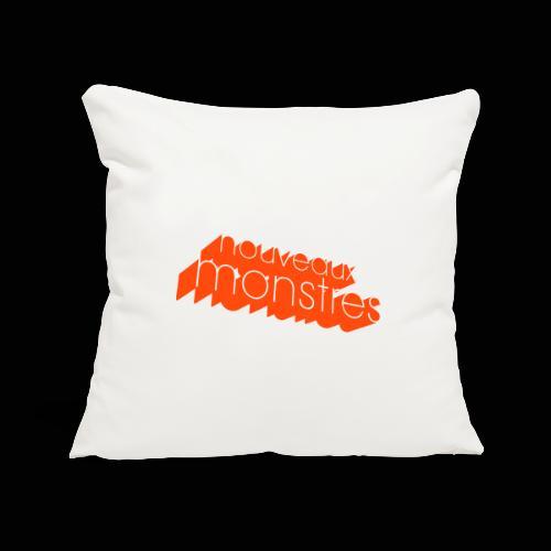 nouveaux monstres 3d 70's logo - Housse de coussin décorative 45x 45cm