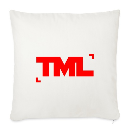 TML RED - Sofa pillowcase 17,3'' x 17,3'' (45 x 45 cm)