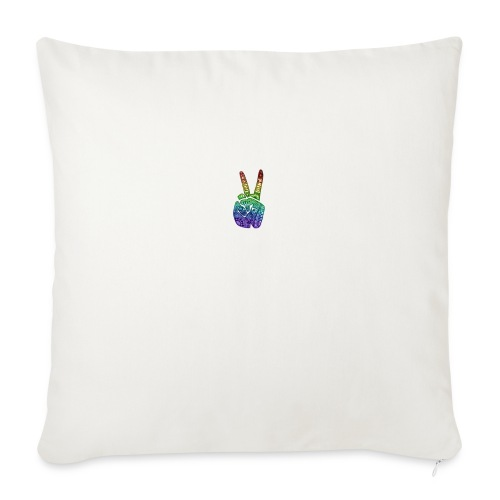 peace fingers - Sofa pillowcase 17,3'' x 17,3'' (45 x 45 cm)
