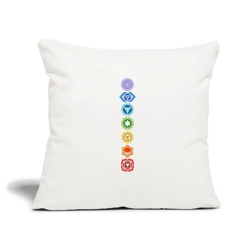 The 7 Chakras, Energy Centres Of The Body - Sofa pillowcase 17,3'' x 17,3'' (45 x 45 cm)