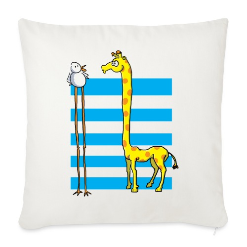 La girafe et l'échassier - Housse de coussin décorative 45x 45cm