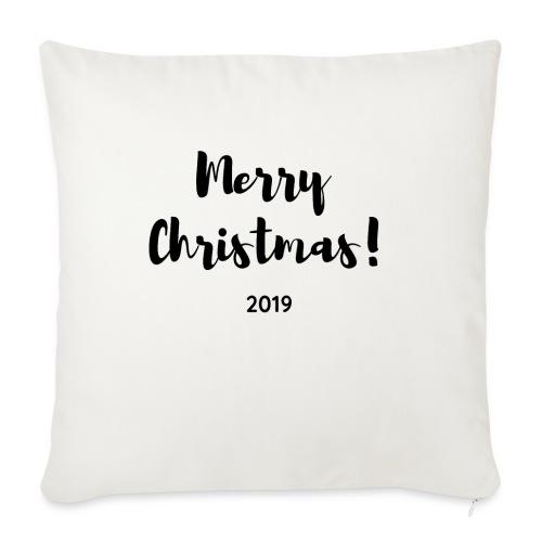 Merry Christmas 2019 - Funda de cojín, 45 x 45 cm