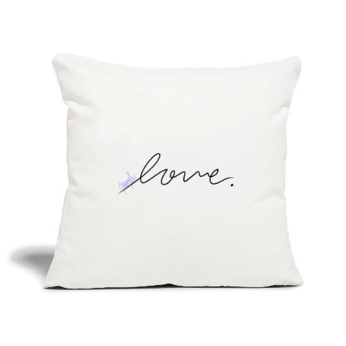 Purple Love ARMY - Sofa pillowcase 17,3'' x 17,3'' (45 x 45 cm)