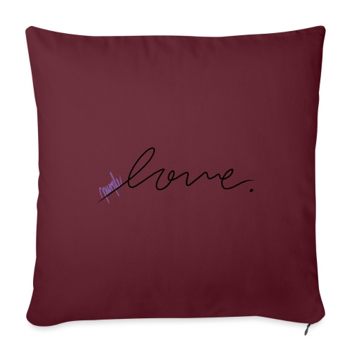 Purple Love ARMY - Sofa pillowcase 17,3'' x 17,3'' (45 x 45 cm)