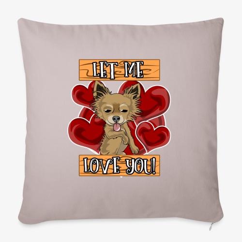 Engla says Let me love you! - Soffkuddsöverdrag, 45 x 45 cm