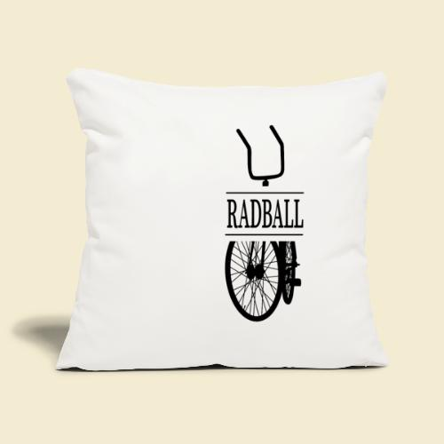 Radball   Retro Black - Sofakissenbezug 44 x 44 cm