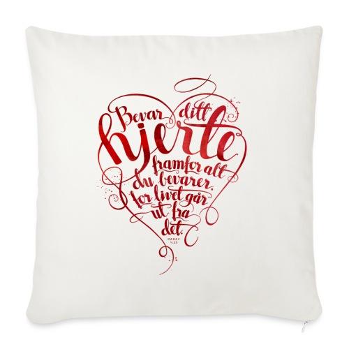 Bevar ditt hjerte - Sofaputetrekk 45 x 45 cm