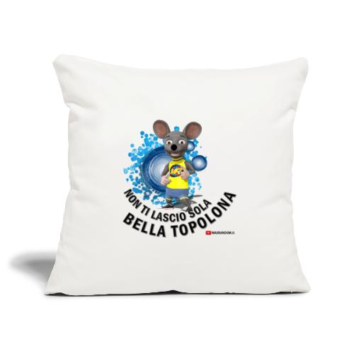Bella Topolona testo Nero - Copricuscino per divano, 45 x 45 cm
