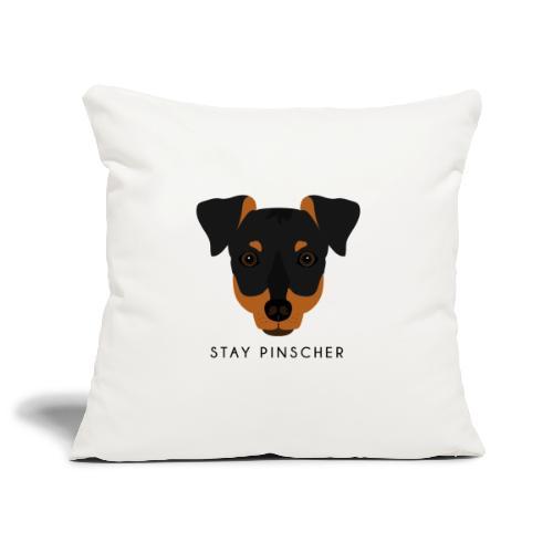 Pinscher - Black - Copricuscino per divano, 45 x 45 cm