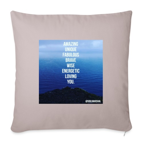 The Sea Of Courage - Sohvatyynyn päällinen 45 x 45 cm