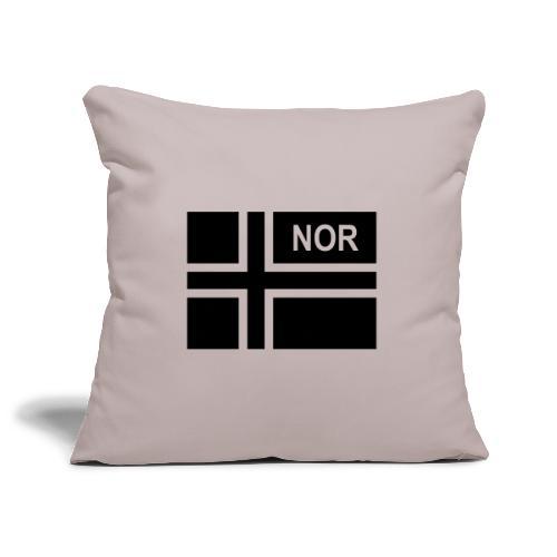 Norwegian Tactical Flag Norway -Norge - NOR - Soffkuddsöverdrag, 45 x 45 cm