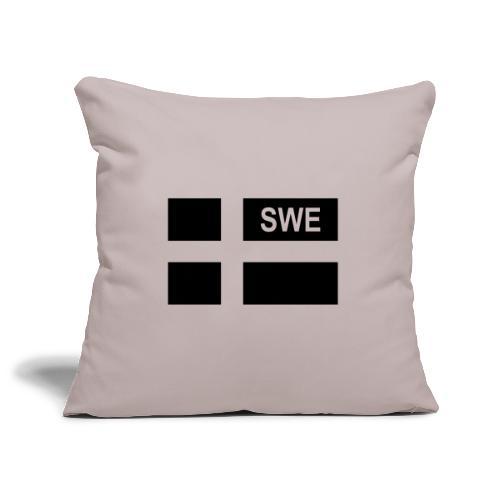 Swedish Tactical flag Sweden - Sverige - SWE - Soffkuddsöverdrag, 45 x 45 cm
