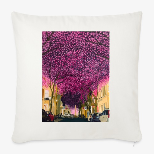 A street at night - Sofa pillowcase 17,3'' x 17,3'' (45 x 45 cm)
