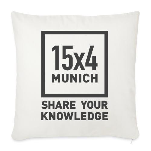Share your knowledge - Sofakissenbezug 44 x 44 cm