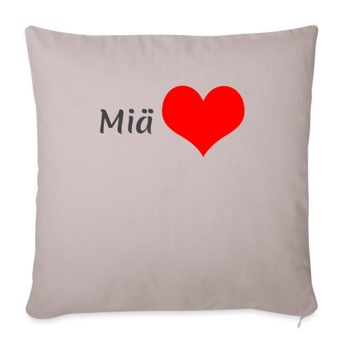 Miä sydän - Sohvatyynyn päällinen 45 x 45 cm