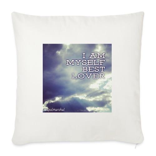 I Am Myself best Lover - Sohvatyynyn päällinen 45 x 45 cm