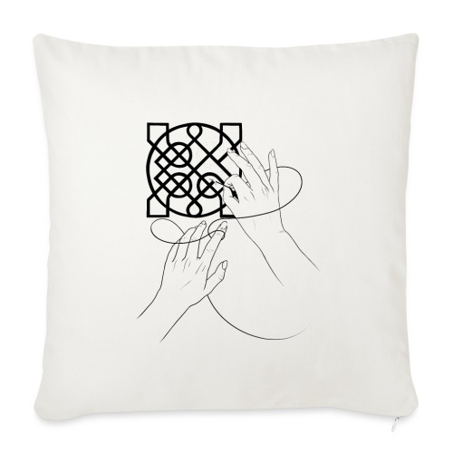 L'art de la broderie - Housse de coussin décorative 45x 45cm