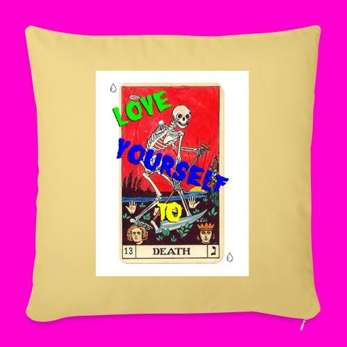 LOVE YOURSELF TO DEATH - Sofa pillowcase 17,3'' x 17,3'' (45 x 45 cm)