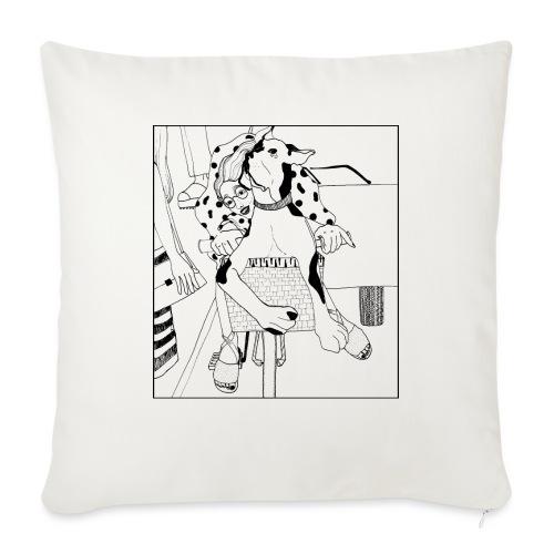 Beauty on a bicycle - Sofa pillowcase 17,3'' x 17,3'' (45 x 45 cm)