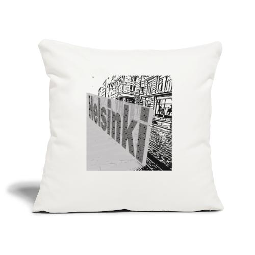 helsinki tram typo - Sofa pillowcase 17,3'' x 17,3'' (45 x 45 cm)