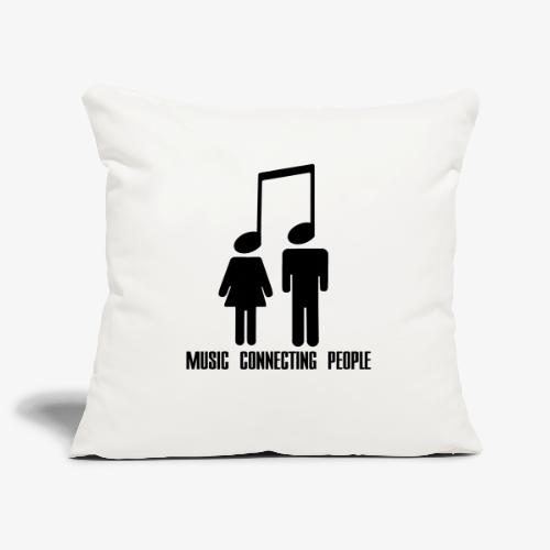 Music Connecting People - Sofakissenbezug 44 x 44 cm