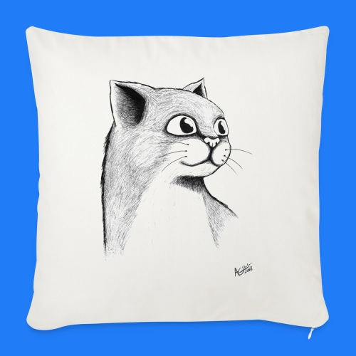 CAT HEAD by AGILL - Housse de coussin décorative 45x 45cm