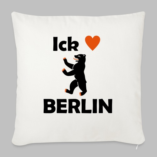 Ick liebe ❤ Berlin - Sofakissenbezug 44 x 44 cm