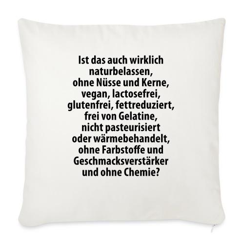 bio vegan Lactose Farbstoff Chemie glutenfrei fett - Sofa pillowcase 17,3'' x 17,3'' (45 x 45 cm)