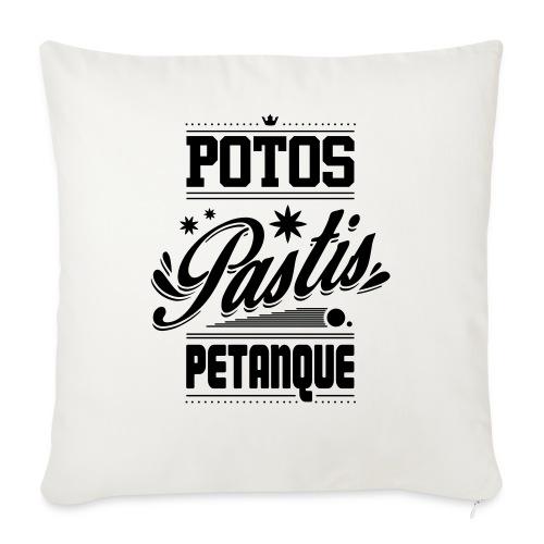 POTOS PASTIS PETANQUE - Housse de coussin décorative 45x 45cm