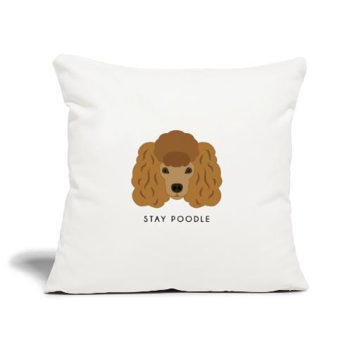 Poodle Brown - Copricuscino per divano, 45 x 45 cm