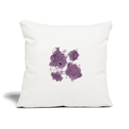 Violet splash chinchilla - Sohvatyynyn päällinen 45 x 45 cm