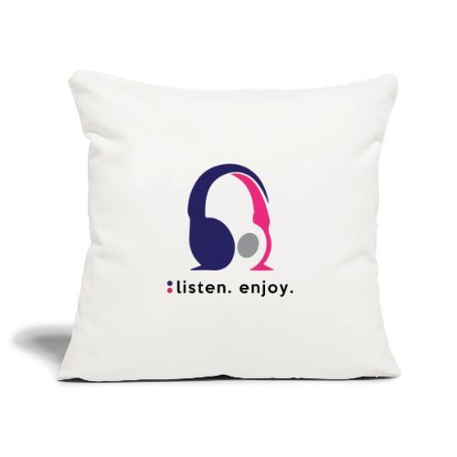 liste. enjoy. - Sofa pillowcase 17,3'' x 17,3'' (45 x 45 cm)