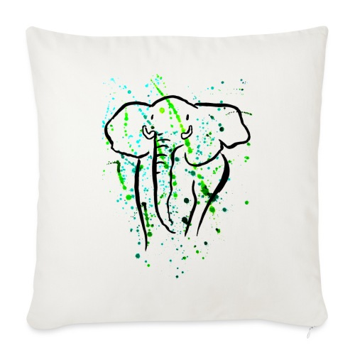 Afrikanischer Elefant I Kleckse - Sofakissenbezug 44 x 44 cm