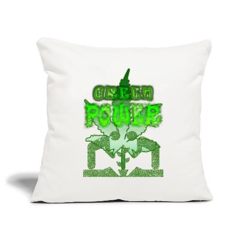 Green Power - Housse de coussin décorative 45x 45cm
