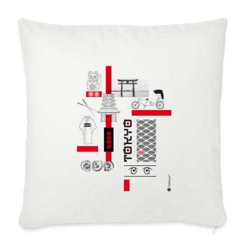 TOKYO - Housse de coussin décorative 45x 45cm