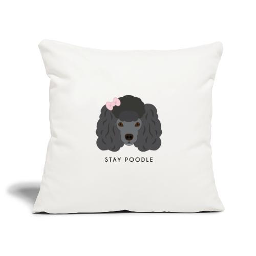 Poodle Black - Copricuscino per divano, 45 x 45 cm