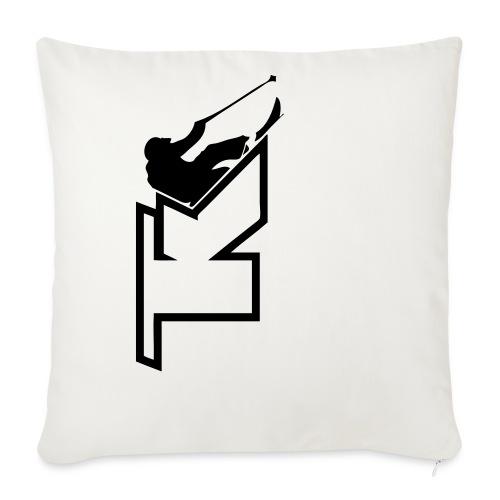 2017 TK Logo Noir sanstexte - Housse de coussin décorative 45x 45cm