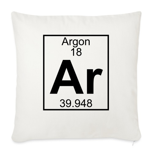 Argon (Ar) (element 18) - Sofa pillowcase 17,3'' x 17,3'' (45 x 45 cm)