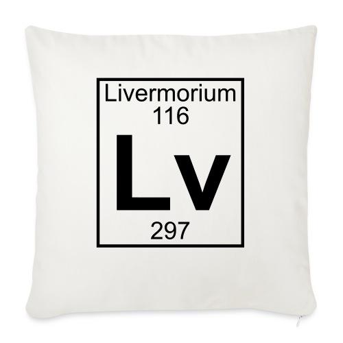 Livermorium (Lv) (element 116) - Sofa pillowcase 17,3'' x 17,3'' (45 x 45 cm)