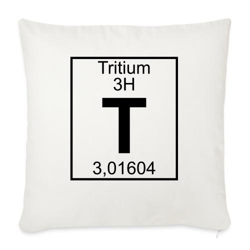 T (tritium) - Element 3H - pfll - Sofa pillowcase 17,3'' x 17,3'' (45 x 45 cm)